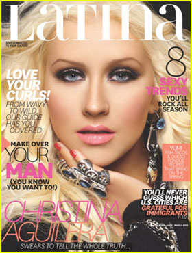 Christina Aguilera Covers 'Latina' March 2012