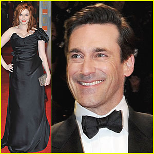 Christina Hendricks &#038; Jon Hamm - BAFTAs 2012 Red Carpet