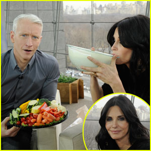 Courteney Cox Drinks Ranch Dressing on 'Anderson'