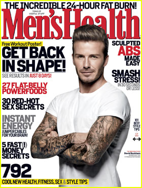 David Beckham Covers 'Men's Health' March 2012