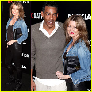 Ellen Pompeo: Roc Nation Pre-Grammy Party with Chris Ivery