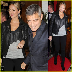 George Clooney & Stacy Keibler Dine at Dan Tana's