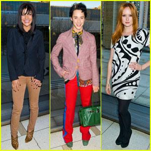 Jessica Szohr & Johnny Weir: Chris Benz Fashion Show!