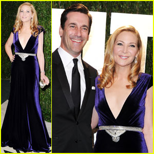 Jon Hamm & Jennifer Westfeldt - Vanity Fair Oscar Party