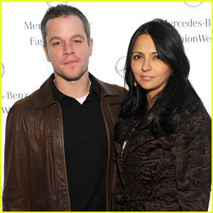 Matt Damon: Naeem Khan Fashion Show Wi