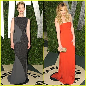 Mia Wasikowska &#038; Dakota Johnson: Vanity Fair Oscar Party!