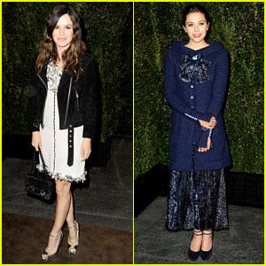 Rachel Bilson & Elizabeth Olsen: Chanel Pre-Oscar Dinner!