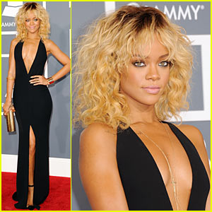 Rihanna - Grammys 2012 Red Carpet