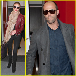Rosie Huntington-Whiteley: LAX with Jason Statham!