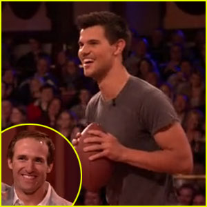 Taylor Lautner Takes on Drew Brees on 'Jimmy Fallon'