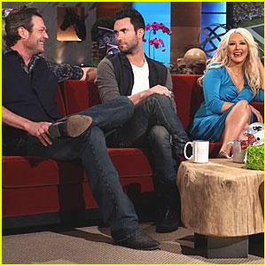 Christina Aguilera & Adam Levine: 'Ellen' Appearance!