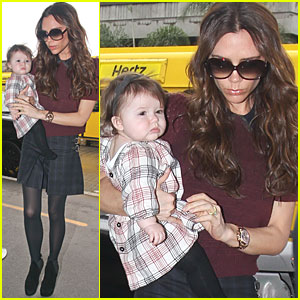 Victoria Beckham & Harper Match in Plaid Outfits