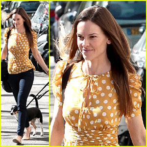 Hilary Swank: Puppy Love in Paris!