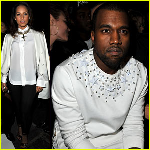 Alicia Keys &#038; Kanye West: Givenchy Paris Presentation!