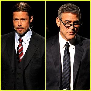 Brad Pitt & George Clooney: '8' Performance Pics!