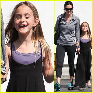 Courteney Cox & Coco: Mommy-Daughter Time in Malibu