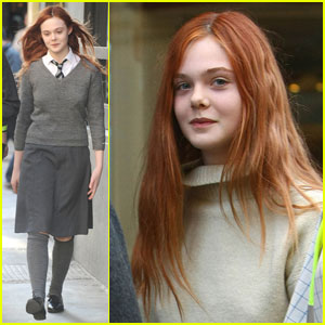 Elle Fanning: Red Hair for 'Bomb'!