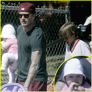 David Beckham, Romeo, and Harper: Park Playdate!