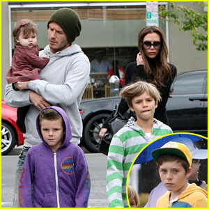 David & Victoria Beckham: Lunch with the Kids!