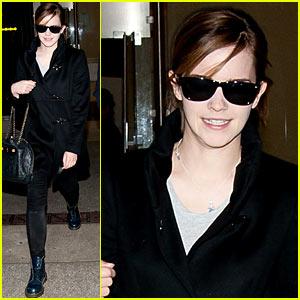 Emma Watson: All Smiles At LAX!