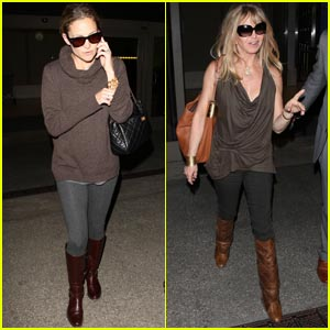 Kate Hudson &#038; Goldie Hawn: Back from London
