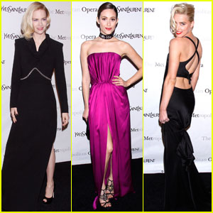 January Jones & Amber Heard: 'Manon' at the Met!