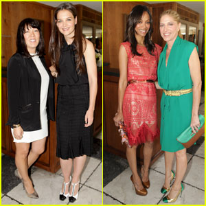 Katie Holmes & Zoe Saldana: 'THR' Stylists Luncheon!