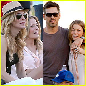 LeAnn Rimes &#038; Brandi Glanville Cheer on Son Jake!