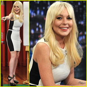Lindsay Lohan: Pictionary with Jimmy Fallon!
