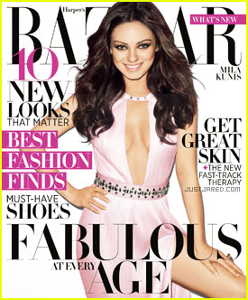 Mila Kunis Covers 'Harper's Bazaar' April 2012