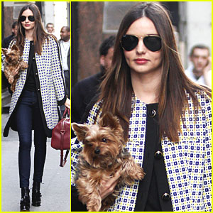 Miranda Kerr & Frankie Walk in NYC