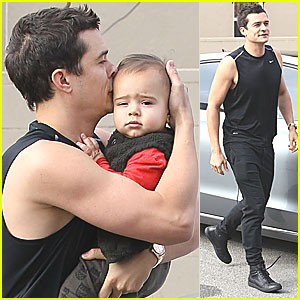 Orlando Bloom & Flynn: Gym Guys