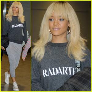 Rihanna Arrives In Tokyo For 'Battleship' Premiere!