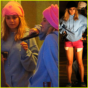 Vanessa Hudgens: 'Spring Breakers' Robbery Scene!