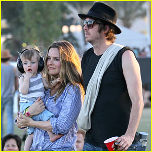 Alicia Silverstone Brings Baby Bear to Coachella