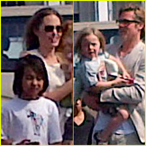 Angelina Jolie & Brad Pitt: Post-Engagement Vacation with the Kids!