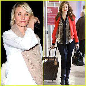 Cameron Diaz & Emmy Rossum: LAX Ladies!