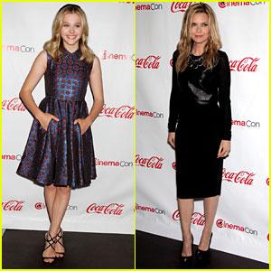 Chloe Moretz & Michelle Pfeiffer: CinemaCon Awards!