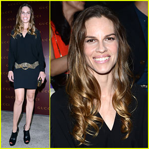 Hilary Swank: Frida Giannini First Fashion Show