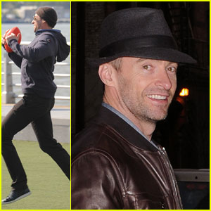 Hugh Jackman: Football With The Family!
