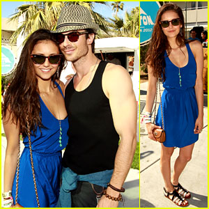 Ian Somerhalder & Nina Dobrev: Burton Pool Party!