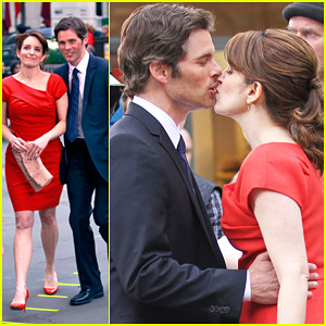James Marsden & Tina Fey: Kiss On '30 Rock' Set!