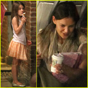 Katie Holmes: NYC for Suri's Birthday!