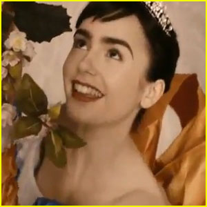 Lily Collins Sings In 'Mirror, Mirror' Credits