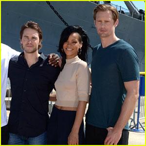 Rihanna & Alexander Skarsgard: 'Battleship' in Pearl Harbor!
