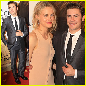Zac Efron: 'Lucky One' Melbourne Premiere with Taylor Schilling!