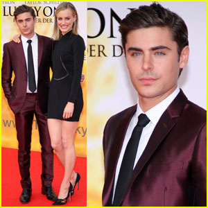 Zac Efron & Taylor Schilling: 'Lucky One' Germany Premiere!