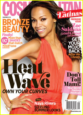 Zoe Saldana Covers 'Cosmopolitan for Latinas' Premiere Is