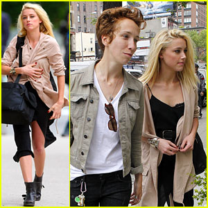 Amber Heard & iO Tillett Wright: NYC Day Out!