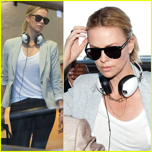 Charlize Theron: Memorial Day Flight to NYC